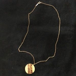 Tiffany and co gold pendant